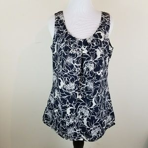 Banana Republic Lined Floral Print Sleeveless Tank